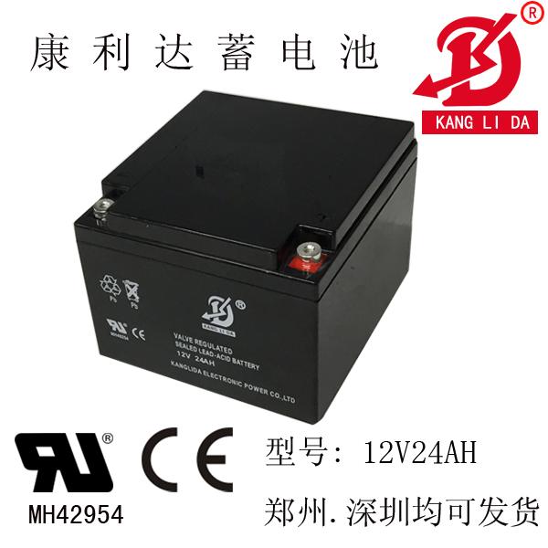 12v24ah电梯平层系统专用电池 卧式