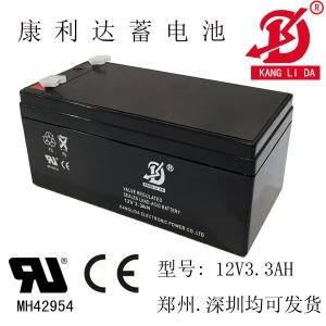 物矿探测用蓄电池12v3.3ah 康利达蓄电池厂家现货直销