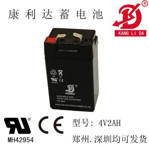 应急灯专用4V2AH康利达蓄电池 厂家直销 质量保障