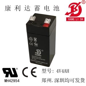 电子称专用4V4AH电瓶 康利达蓄电池厂家直销