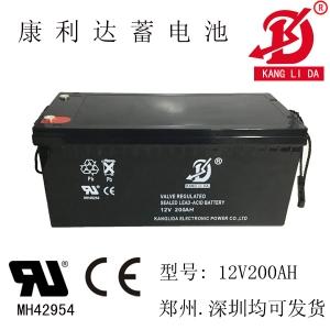 康利达12V200AH蓄电池 太阳能路灯专用电池